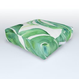 Monstera Leaf Pattern Outdoor Floor Cushion