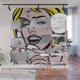 """Roy Lichtenstein's """"Oh, Jeff I Love You, Too But..."""" & M.M. Wall Mural"""