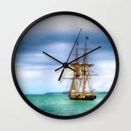 The Journey Begins - Flagship Niagara, Erie, PA Wall Clock