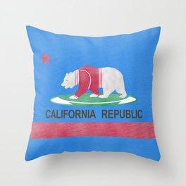 Polar Bear In California Throw Pillow