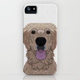 Golden Labrador Retriever Portrait iPhone Case
