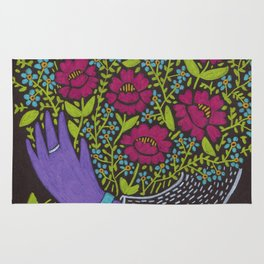 I Picked You These Flowers Rug