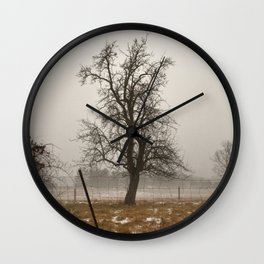 Tree Stands Tall Wall Clock