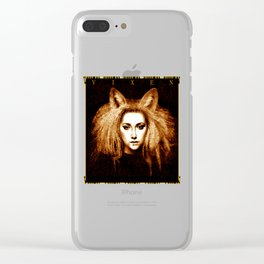 Vixen Fox Eared Girl Design Clear iPhone Case