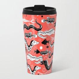 Beautiful graphic illustration of the sea snake, Moray Travel Mug