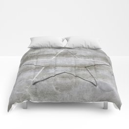Solid Star in grey conrete Comforters