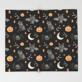 HALLOWEEN PARTY Throw Blanket