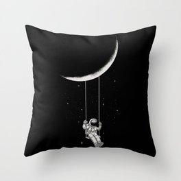 Moon Swing Throw Pillow