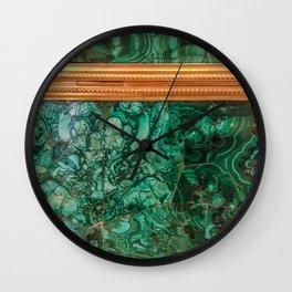 Malachite Box 3 Wall Clock