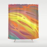 aurora Shower Curtains featuring Aurora by Ma. Luisa Gonzaga