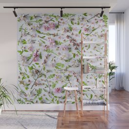 Leaves and flowers pattern (26) Wall Mural