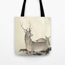 Deer by Ohara Koson Tote Bag