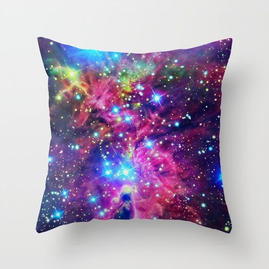 Astral Nebula Throw Pillow
