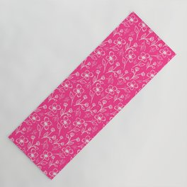 08 Small Flowers on Pink Yoga Mat