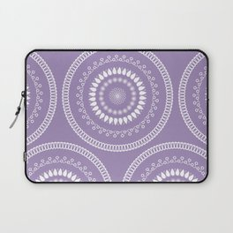 Round lilac pattern Laptop Sleeve