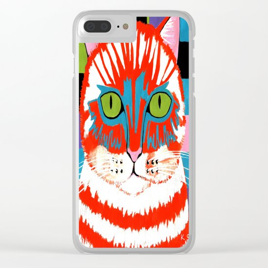 Bad Cattitude Clear iPhone Case