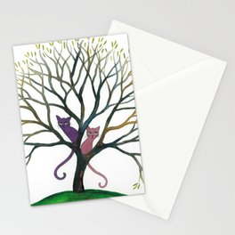 Maryland Whimsical Cats in Tree Stationery Cards