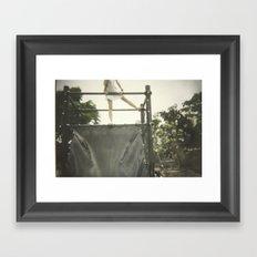 Kid-dult Girl Framed Art Print