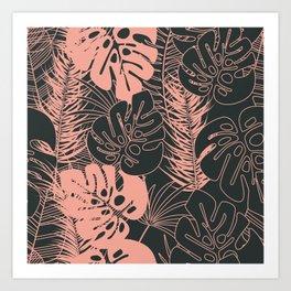 Tropical pattern 034 Art Print