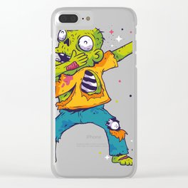 Dab Dabbing Zombie USA Halloween Trend Clear iPhone Case