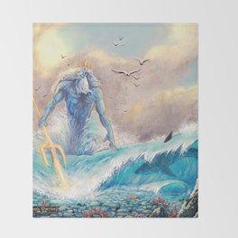 Poseidon Throw Blanket