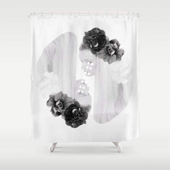 selene and eos (black and white) Shower Curtain
