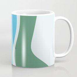 Cyan Turquoise Mint Organic Shapes Coffee Mug