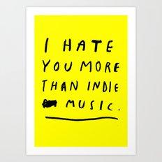 INDIE MUSIC Art Print
