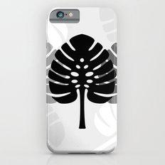 Tropical leaves in grey Slim Case iPhone 6s