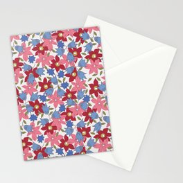 Liberty print in pinks, reds and blues Stationery Cards