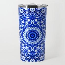Blue Mandala Mehndi Style G403 Travel Mug