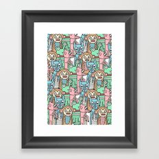 FUNNY ANIMALS Framed Art Print
