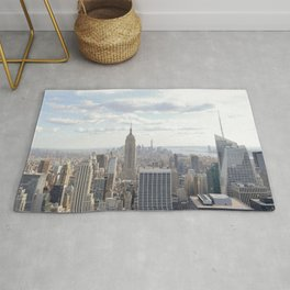 Manhattan skyline view Rug