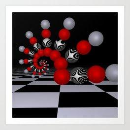 red white black -1- Art Print