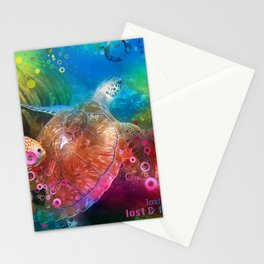 Sea Turtle In Living Color Stationery Cards