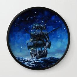 Black Pearl Starry Night Wall Clock