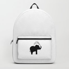 Elephant and butterfly spray Backpack