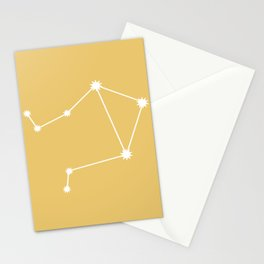 Libra Zodiac Constellation - Golden Yellow Stationery Cards