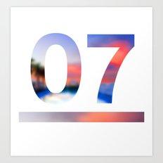 07 Jersey Art Print
