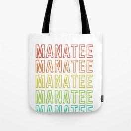 Manatee Retro Vintage Sea Cow Design Tote Bag