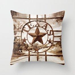 Texas Star Ranch Gate2 Throw Pillow