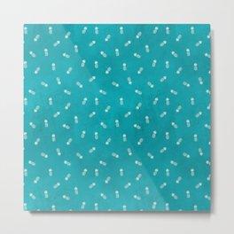 Pineapples on sky blue Metal Print