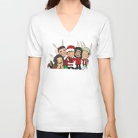 liam payne V-neck T-shirts featuring It's Christmas, Liam Payne by Ashley R. Guillory