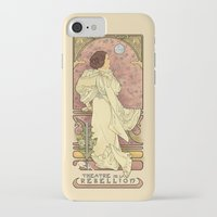 mucha iPhone & iPod Cases featuring La Dauphine Aux Alderaan by Karen Hallion Illustrations