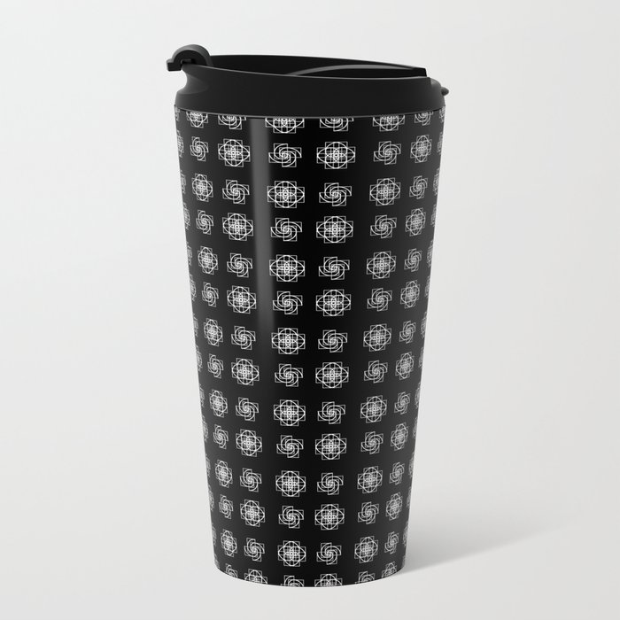 Fibonacci Flowers Pattern Metal Travel Mug