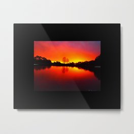Fall Scratchings on a Carslruhe Sunset Metal Print