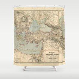 Turkey, Balkan Peninsula Map (1855) Shower Curtain