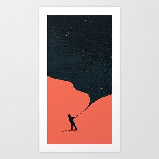 Night fills up the sky Art Print