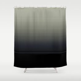 Ombre Grey Navy Black Abstract Design Shower Curtain