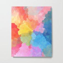 Rainbow Honeycomb Metal Print
